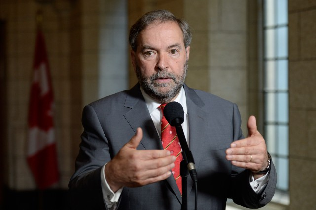 Le chef du NPD, Thomas Mulcair... (La Presse Canadienne, Adrian Wyld)