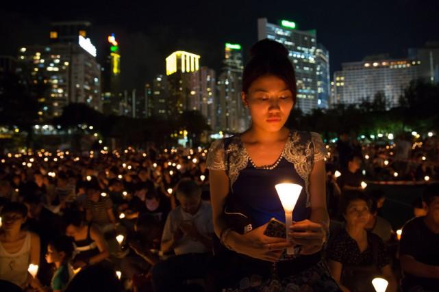 On attendait des dizaines de milliers de personnes... (PHOTO DALE DE LA REY, AFP)