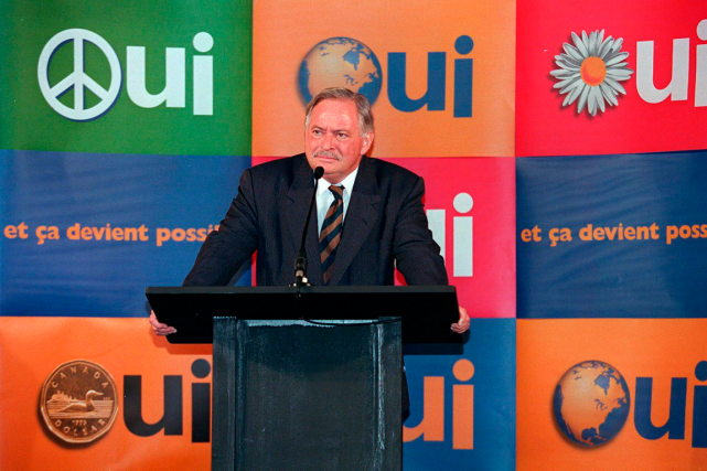 En plein débat référendaire, en 1995, Jacques Parizeau... (Photo Jacques Boissinot, archives PC)