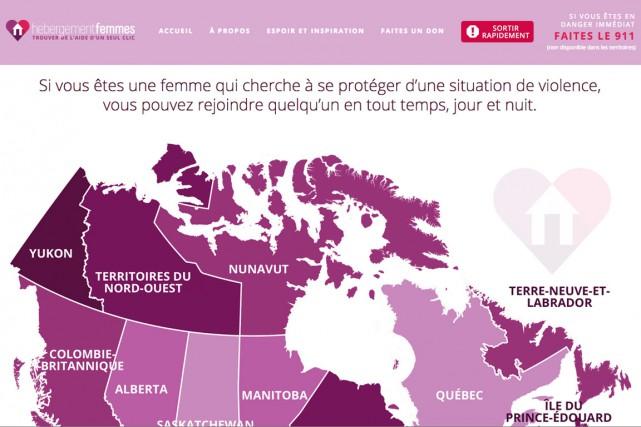 Un nouveau site Internet bilingue vise à offrir un guichet unique aux femmes et... (CAPTURE D'ÉCRAN DU SITE WEB)