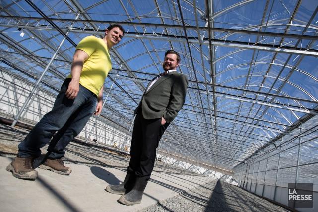 Adam Miron et Sébastien St-Louis, cofondateurs d'Hydropothicaire... (Martin Leblanc, Archives La Presse)