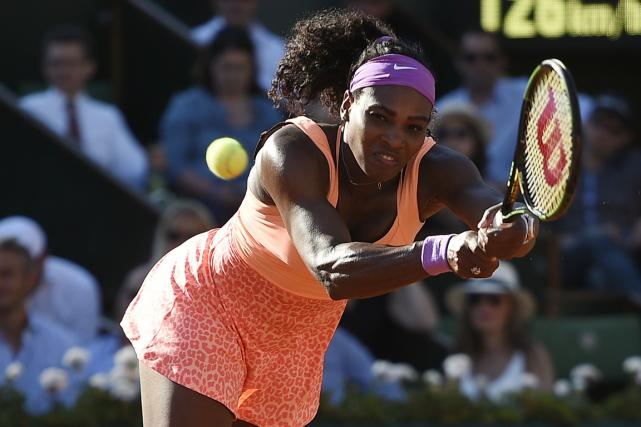 Serena Williamstentera de remporter son 20etitre du Grand... (Photo Miguel Medina, AFP)