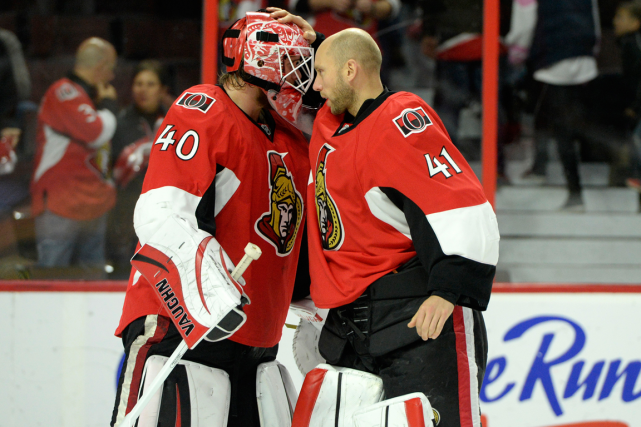Il semble que ce sera Robin Lehner ou... (Photo Eric Bolte, archives USA Today)