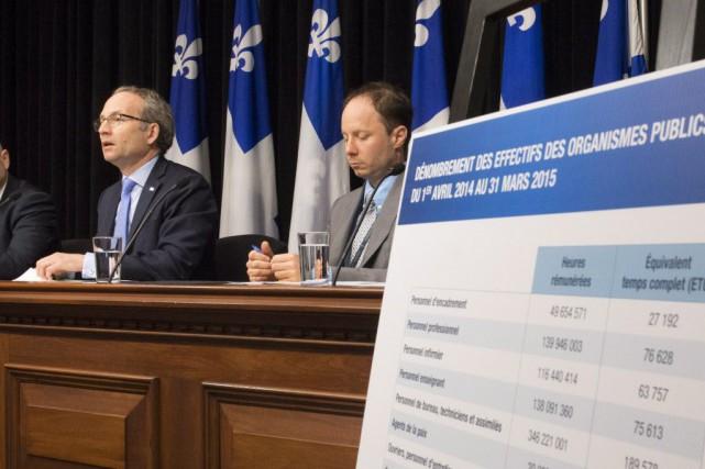 Le ministre responsable de l'Administration gouvernementale et président... (Photo Jacques Boissinot, La Presse canadienne)
