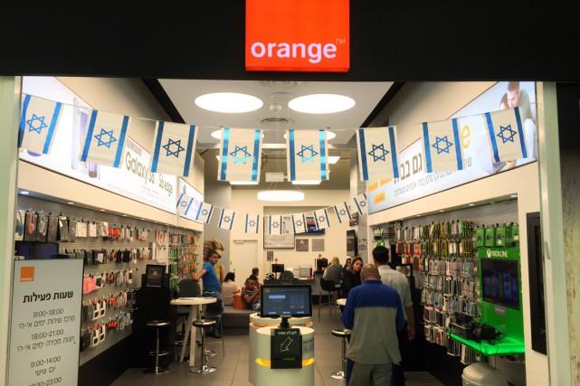 Une boutique de la compagnie de téléphonie mobile... (Pohto THOMAS COEX, AFP)