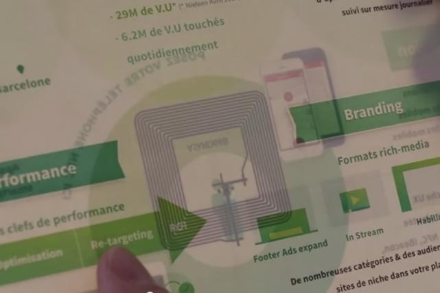 ADSP s'est associé avec le fabricant de papier... (Photo tirée de la vidéo (Digital Business News))