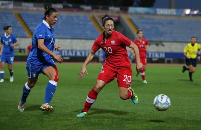 La Trifluvienne Marie-Ève Nault ignore toujours dans quel... (Photo: Soccer Canada)
