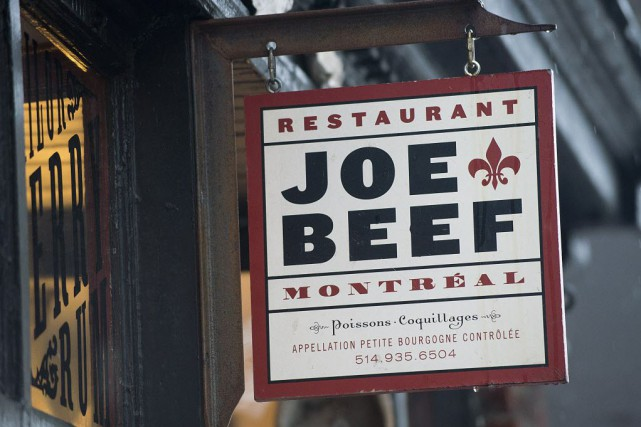 Sur la liste, Joe Beef est entre Daniel... (Photo Graham Hughes, archives La Presse canadienne)