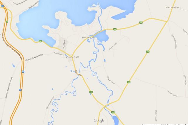Un long détour attend les usagés de la route 141 dans le secteur d'Ayer's... (Capture d'écran Google Maps)