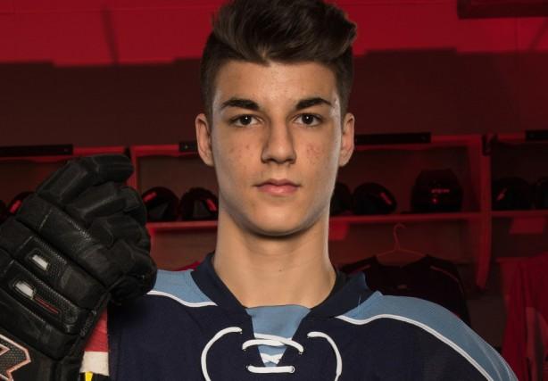 Joseph Veleno a obtenu d'Hockey Canada un statut... (PHOTO FOURNIE PAR LA LHJMQ)