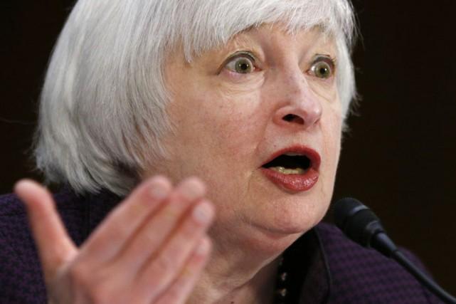 La présidente de la banque centrale américaine (Fed),... (Photo Kevin Lamarque, Reuters)
