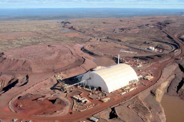 Le site minier du projet DSO exploité par... (Photo fournie par Tata Steel Minerals Canada)