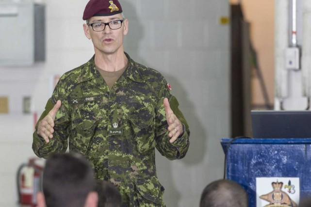 Le major Simon Côté dirigera les forces terrestres... (Photo fournie par les Forces armées canadiennes)