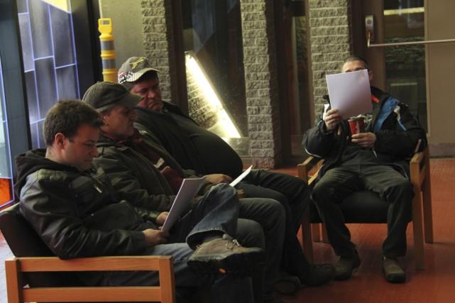 Martin Castilloux, Brian Bordo, Martin Clohosy et Gilles... (photos La Voix de l'Est)