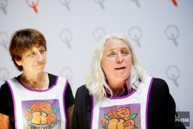 À droite, la députée de Sainte-Marie-Saint-Jacques à l'Assemblée... (PHOTO SARAH MONGEAU-BIRKETT, ARCHIVES LA PRESSE)