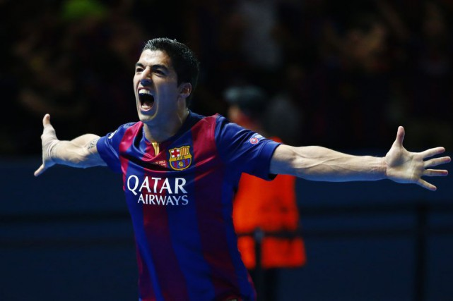Luis Suarez a marqué le but assurant la... (PHOTO MICHAEL DALDER, REUTERS)