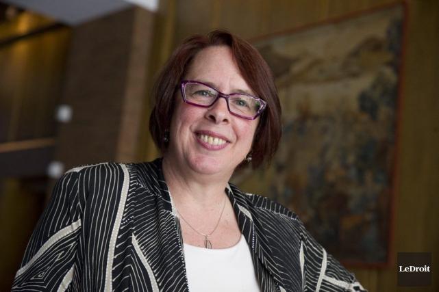 La nouvelle présidente de la FCFA, Sylviane Lanthier.... (Martin Roy, LeDroit)