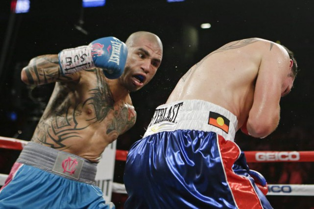 Miguel Cotto a conservé son titre WBC des... (Photo Frank Franklin II, AP)