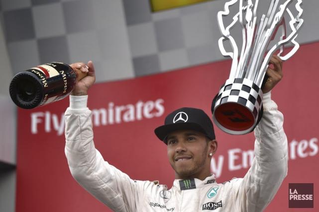 Le champion du monde en titre Lewis Hamilton... (PHOTO BERNARD BRAULT, LA PRESSE)