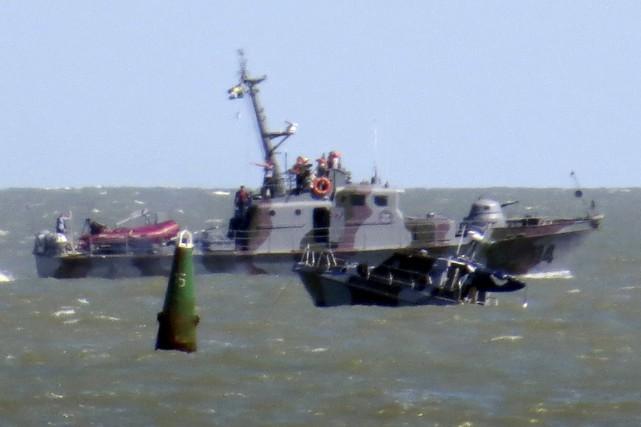 Le navire a explosé en frolant un engin... (Pohot Nikolai Ryabchenko, Reuters)