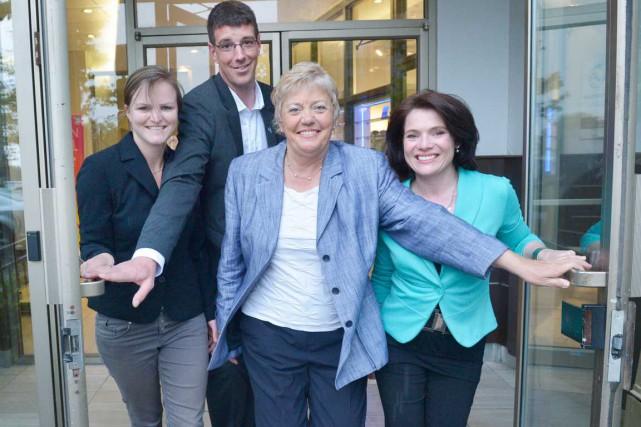 Les principaux candidats dans Chauveau: Marjolaine Bouchard (Québec... (Le Soleil, Jean-Marie Villeneuve)