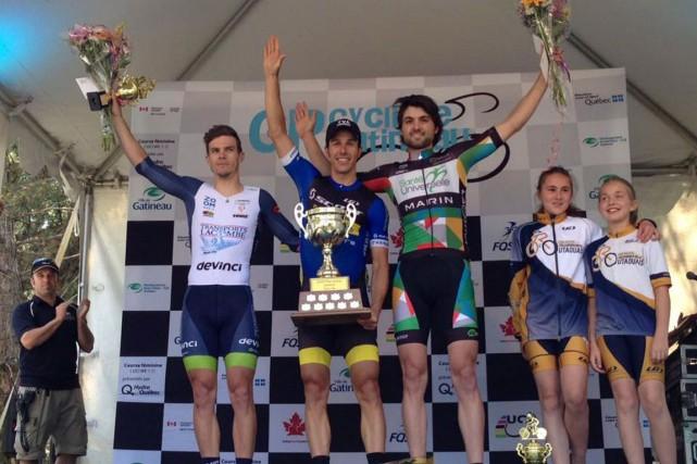 L'Aylmerois Jean-Sébastien Perron pouvait difficilement demander mieux, lui... (Courtoisie, Équipe Santé Universelle - Marin Bikes)