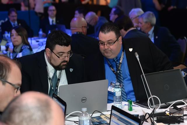 Alain Charbonneau, recruteur en chef, et Patrick Charbonneau,... (Imacom, Maxime Picard)