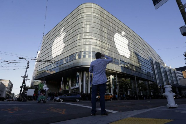 L'édifice d'Apple à San Francisco.... (PHOTO JEFF CHUI, ASSOCIATED PRESS)