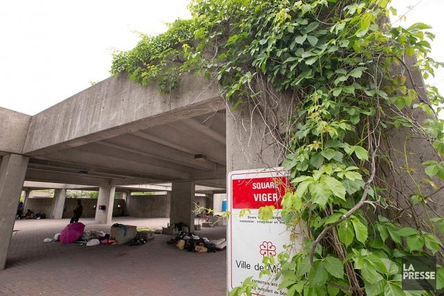 La Ville de Montréal prévoit démolir l'Agora au... (Photo David Boily, La Presse)
