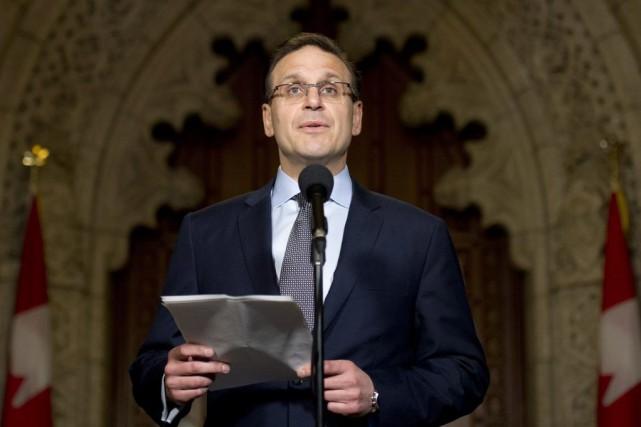 Le président du Sénat, Leo Housakos... (Archives, La Presse canadienne)