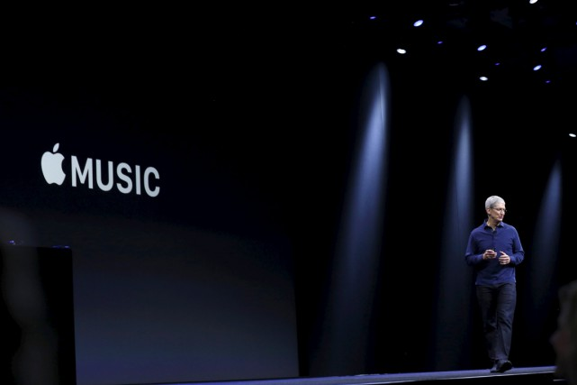 Le PDG d'Apple,Tim Cook.... (Photo Robert Galbraith, REUTERS)