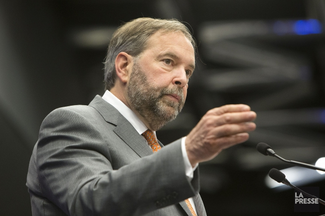 Le chef du NPD, Thomas Mulcair.... (PHOTO ROBERT SKINNER, ARCHIVES LA PRESSE)