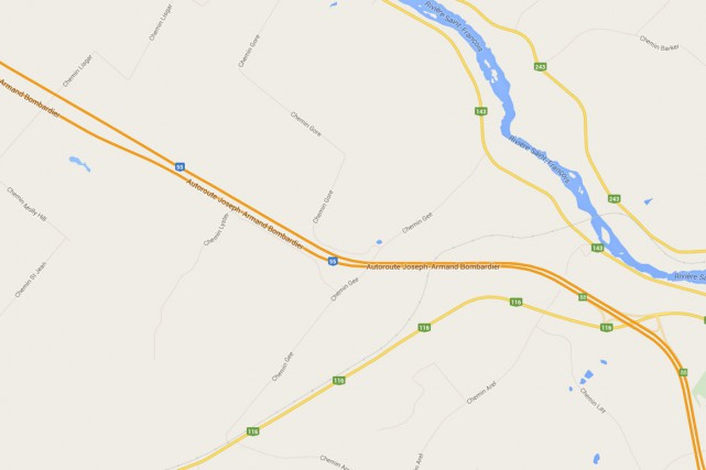 Un jeune conducteur s'est payé un tour de voiture à fond la caisse samedi, sur... (Capture d'écran Google Maps)