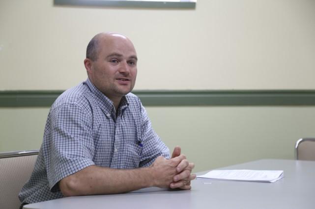 Steve Bouthillier, directeur du centre d'hébergement pour hommes... (photo Janick Marois)