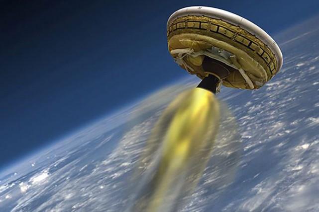 Le parachute supersonique testé lundi par la NASA, le plus grand jamais... (IMAGE FOURNIE PAR LA NASA)