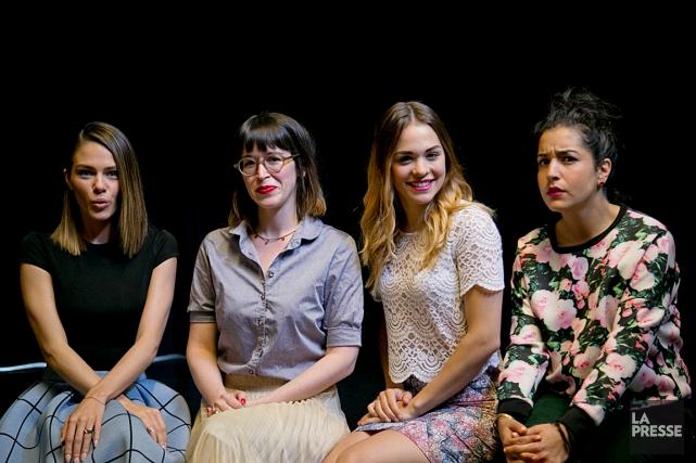 Maripier Morin, Catherine Ethier, Marina Bastarache et Mariana... (Photo La Presse, David Boily)