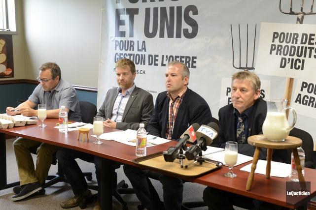 Le président des producteurs de poulettes du Québec,... ((Photo Le Quotidien, Jeannot Lévesque))