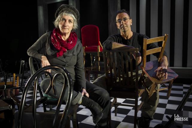 Les acteurs Lise Vaillancourt etPierre-Paul Savoie.... (Photo: Olivier Pontbriand, La Presse)