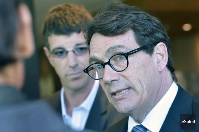 Le chef du Parti québécois Pierre Karl Péladeau... (Le Soleil, Jean-Marie Villeneuve)