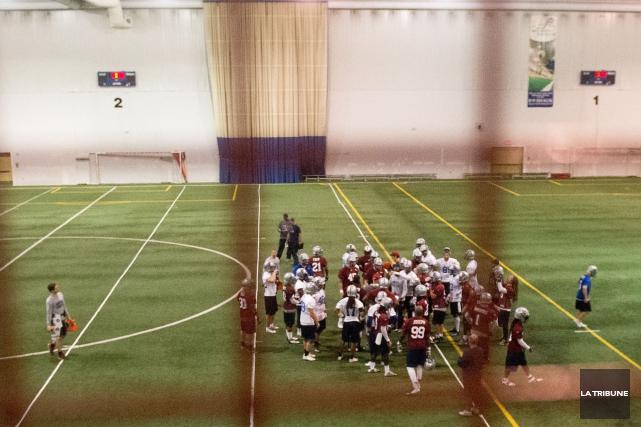 Les Alouettes tiennent leur camp d'entrainement à Sherbrooke.... (Imacom, René Marquis)