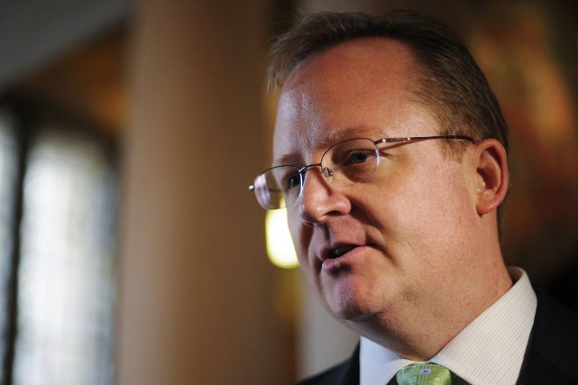 Robert Gibbs, qui fut pendant deux ans, de... (PHOTO MANDEL NGAN, ARCHIVES AFP)