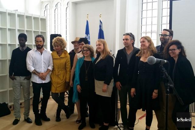 Quelques artistes qui participeront au parcours littéraire Volatil... (Le Soleil, Valérie Gaudreau)