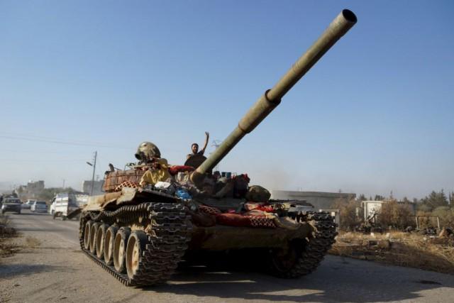 La Brigade-52 était l'une des dernières grandes bases... (Photo Alaa Al-Faqir, Reuters)