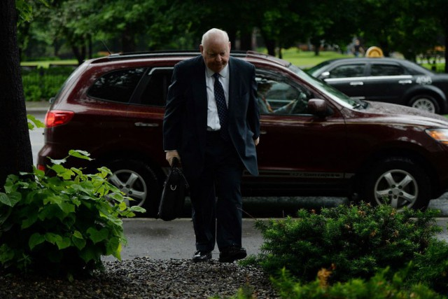 Mike Duffy a plaidé non coupable à 31... (Photo Sean Kilpatrick, La Presse canadienne)