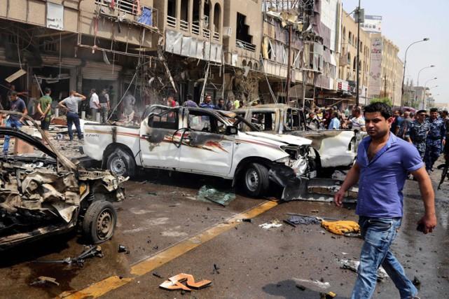 Bagdad et ses environs subissent presque quotidiennement ce... (Archives AP)