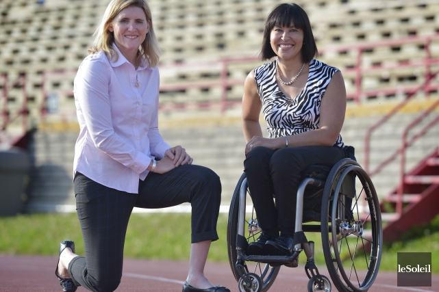 Hayley Wickenheiser et Chantal Petitclerc sont à l'Université... (Le Soleil, Yan Doublet)