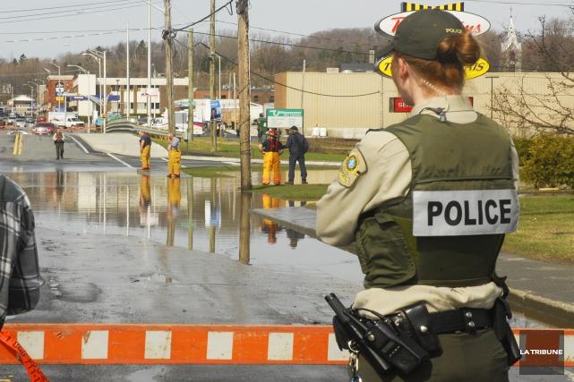 De fortes pluies se sont abattues sur la région de Coaticook mardi soir,... (Archives La Tribune)