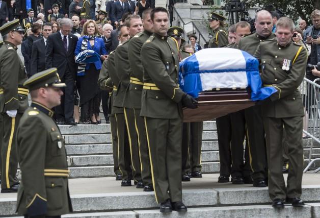 Les funérailles de Jacques Parizeau auront été à l'image du personnage,... (Photo PC)