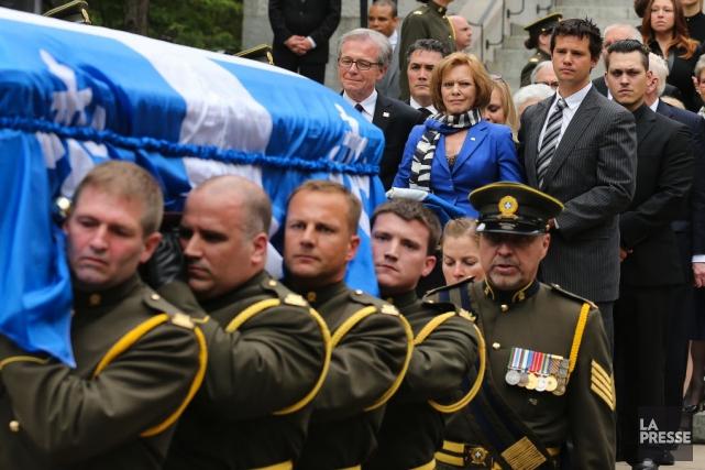 Jacques Parizeau a été porté à son dernier... (Photo: La Presse)