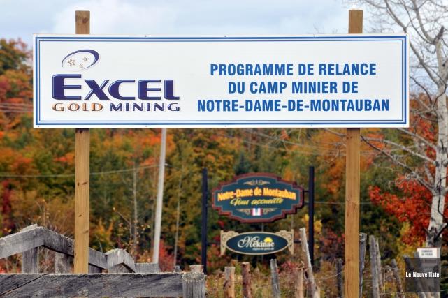 L'arrivée d'Excel Gold Mining à Notre-Dame-de-Montauban avait pourtant... (Photo: Stéphane Lessard Le Nouvelliste)